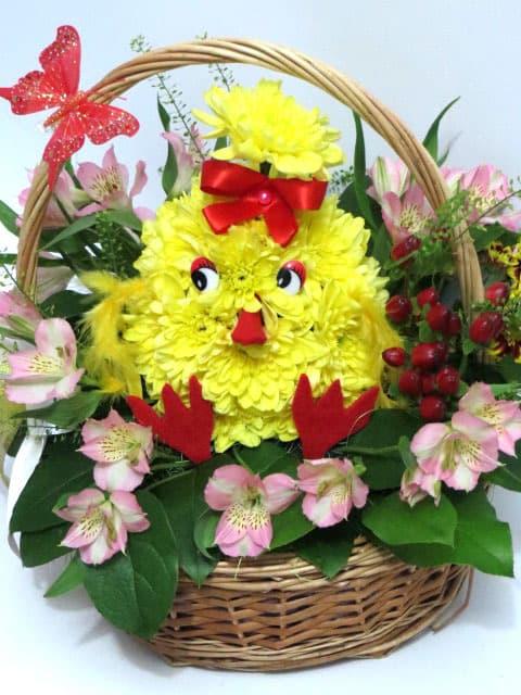 Цыплята из цветов 5