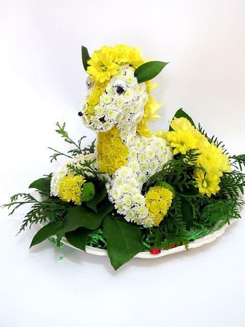 Лошадь из цветов