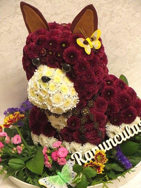 Собаки из цветов