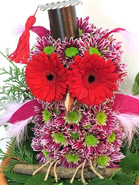 Совы из цветов