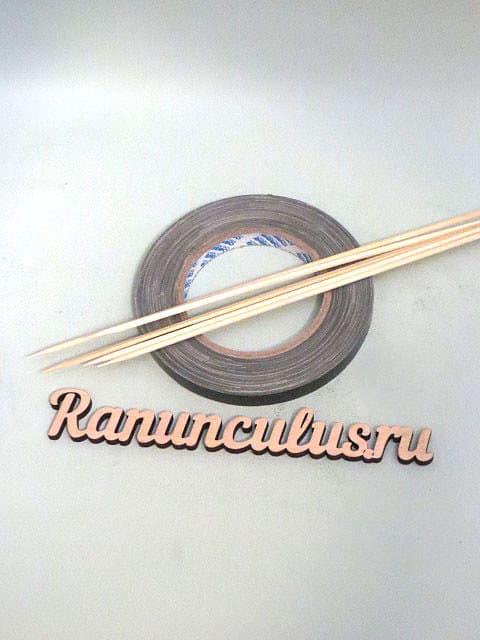 Флористический анкор и бамбуковые шпажки
