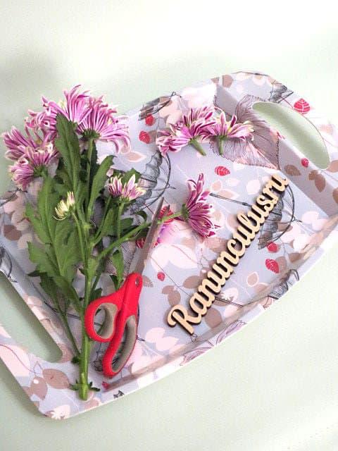 Нарезка цветов для игрушки