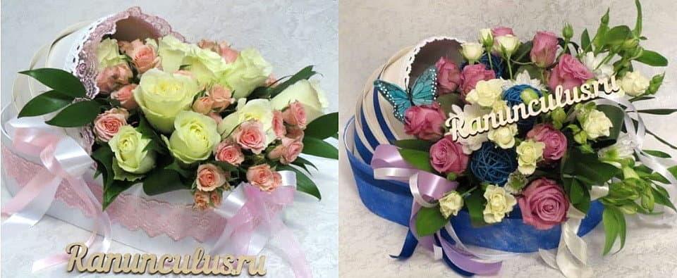 Коробка люлька с цветами
