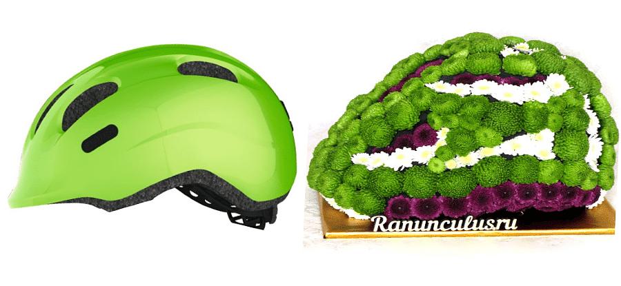 Вело шлем из цветов