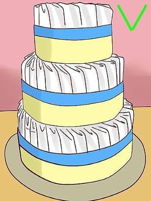 Торт из памперсов взятых слоями